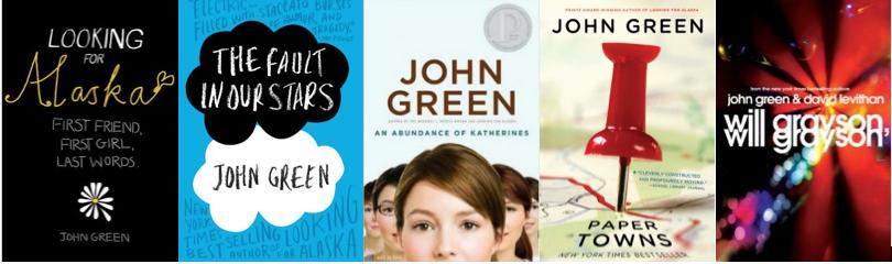 Quem é você, Alasca?, A Culpa é das Estrelas, O Teorema de Katherine, Paper Towns, Will Grayson, Will Grayson